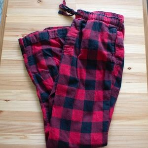 Men's Medium Gap Pajama Pants Black Red